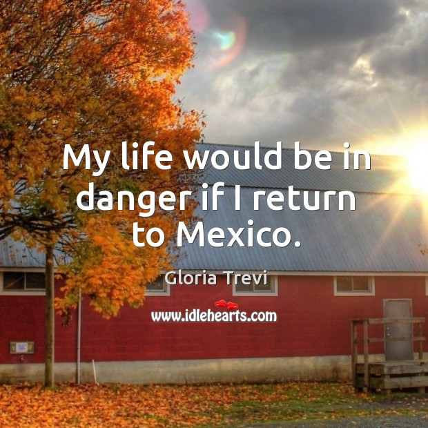 My life would be in danger if I return to mexico. Image