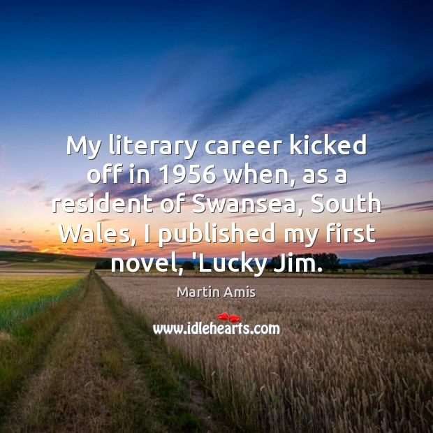 Image, My literary career kicked off in 1956 when, as a resident of Swansea,