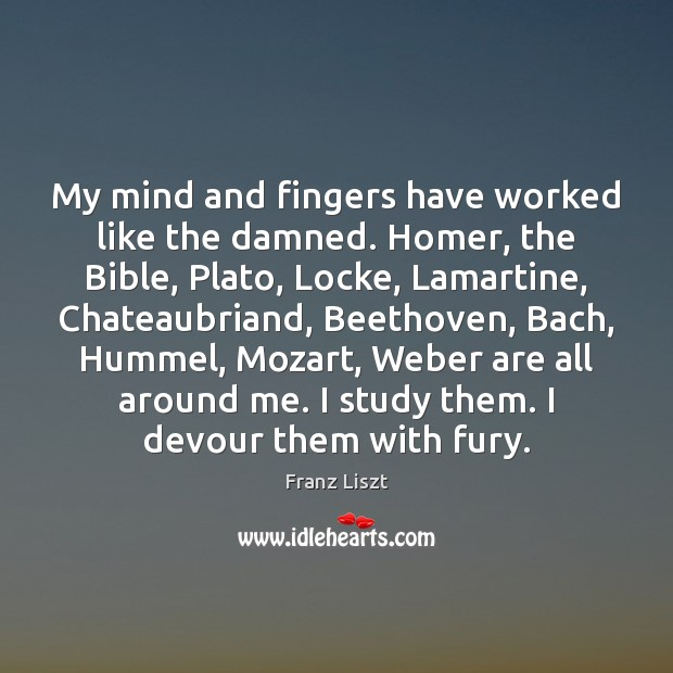 My mind and fingers have worked like the damned. Homer, the Bible, Image