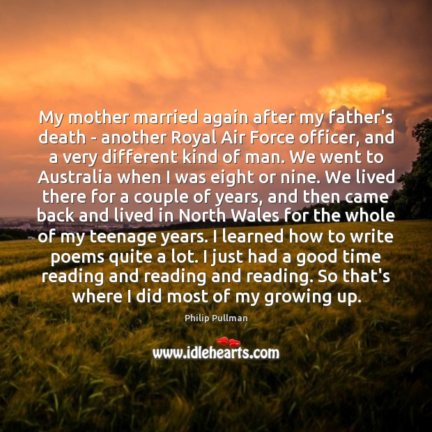 Image, My mother married again after my father's death – another Royal Air
