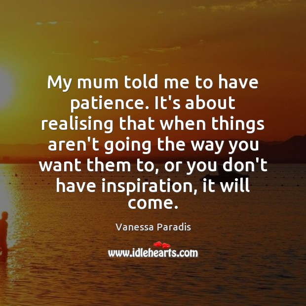 Picture Quote by Vanessa Paradis