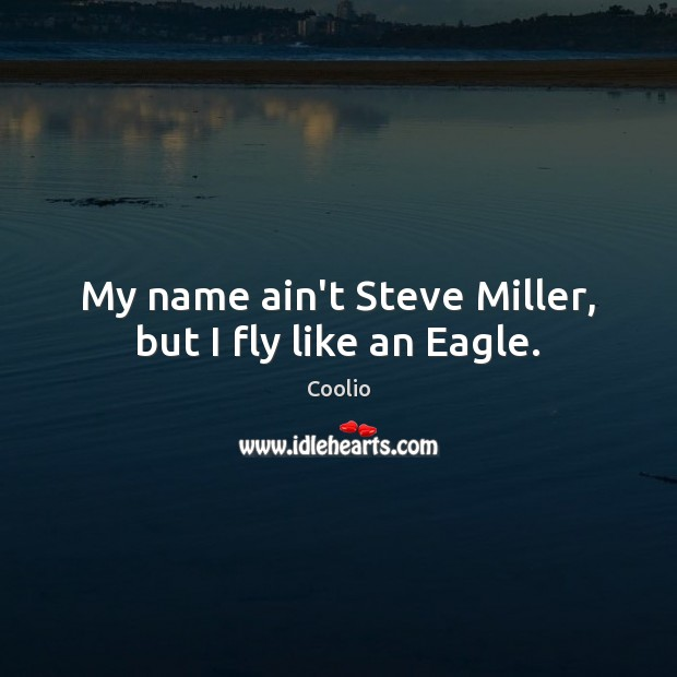 Image, My name ain't Steve Miller, but I fly like an Eagle.