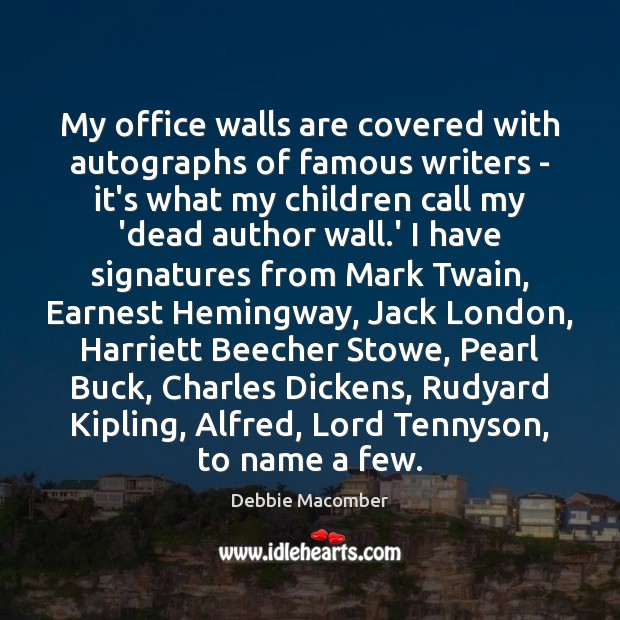 Image, My office walls are covered with autographs of famous writers – it's