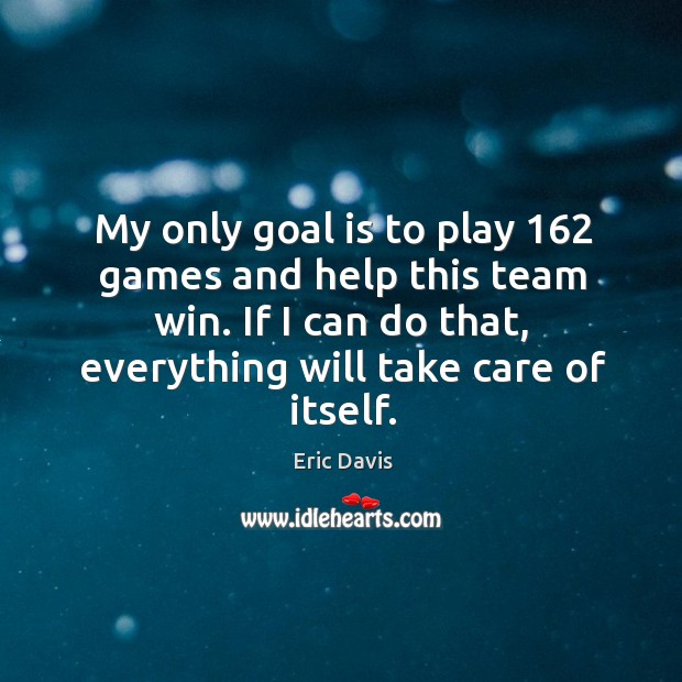 Image, My only goal is to play 162 games and help this team win. If I can do that, everything will take care of itself.