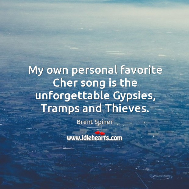 My own personal favorite cher song is the unforgettable gypsies, tramps and thieves. Image