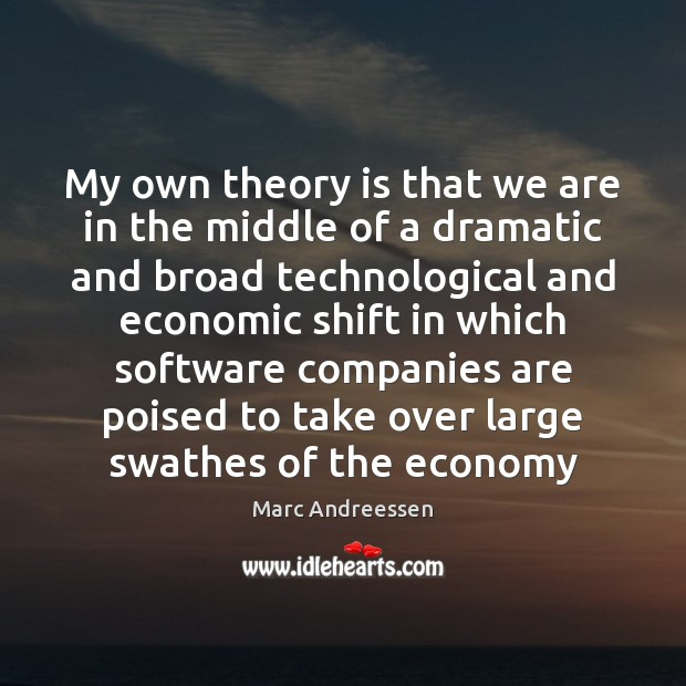My own theory is that we are in the middle of a Marc Andreessen Picture Quote