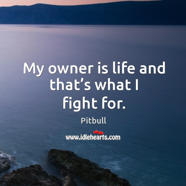 My owner is life and that's what I fight for. Image