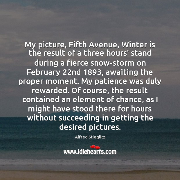 Image, My picture, Fifth Avenue, Winter is the result of a three hours'