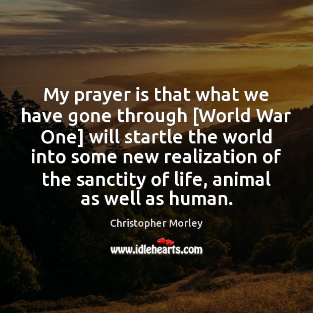 My prayer is that what we have gone through [World War One] Prayer Quotes Image