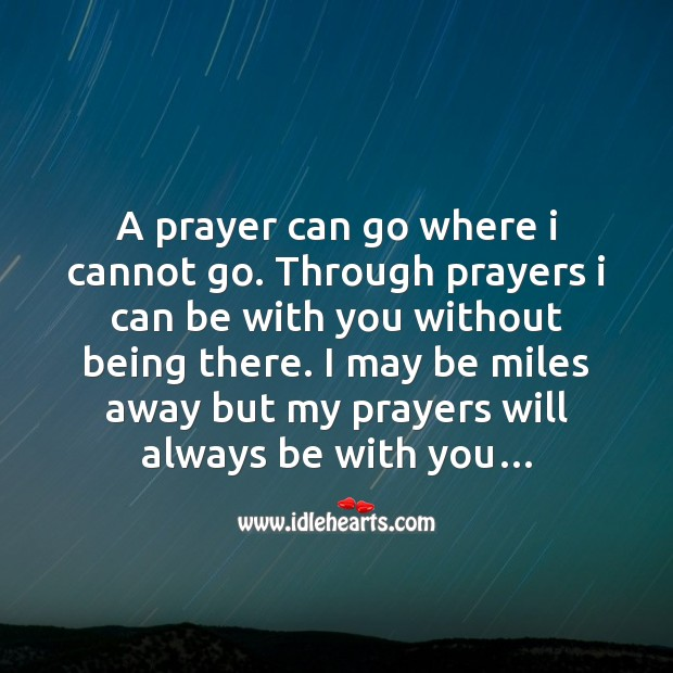 My prayers will always be with you… Love Messages Image