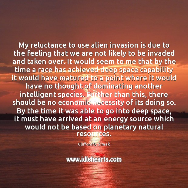 Image, My reluctance to use alien invasion is due to the feeling that