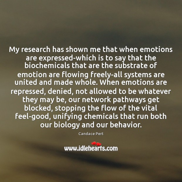 Image, My research has shown me that when emotions are expressed-which is to