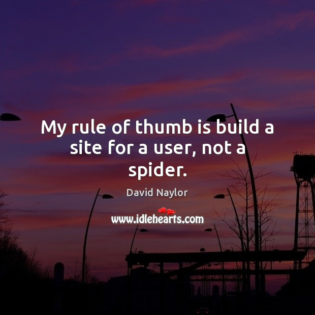 My rule of thumb is build a site for a user, not a spider. Image