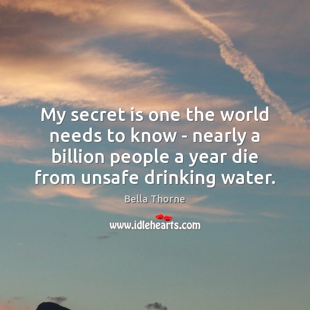 My secret is one the world needs to know – nearly a Image