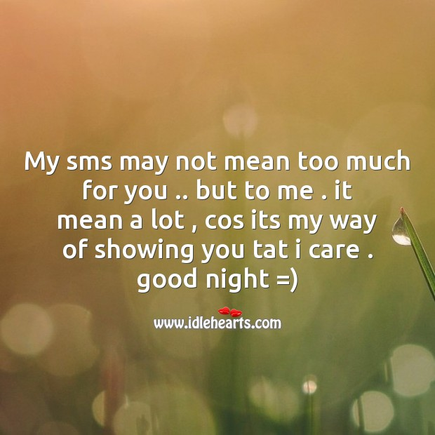 Image, My sms may not mean too much