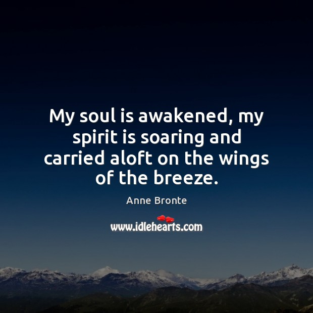Image, My soul is awakened, my spirit is soaring and carried aloft on the wings of the breeze.