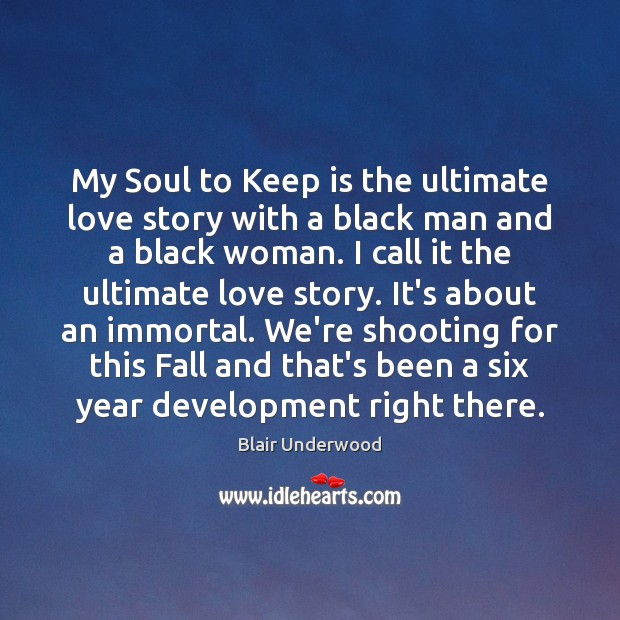Image, My Soul to Keep is the ultimate love story with a black