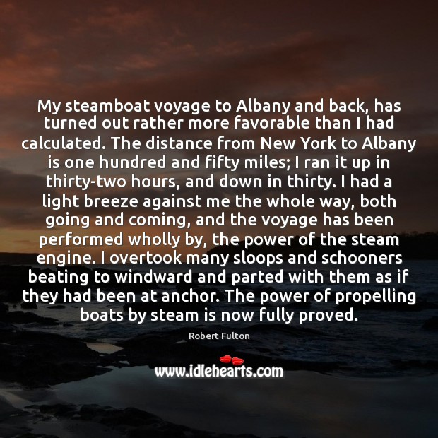 My steamboat voyage to Albany and back, has turned out rather more Image