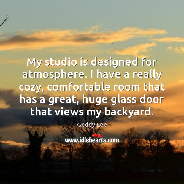 Image, My studio is designed for atmosphere. I have a really cozy, comfortable