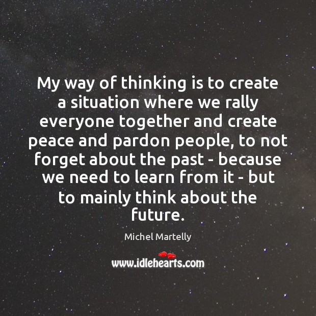 My way of thinking is to create a situation where we rally Image