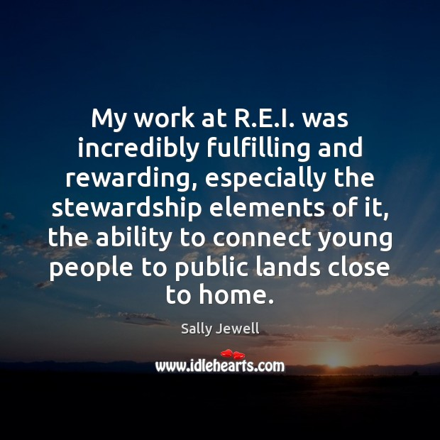 My work at R.E.I. was incredibly fulfilling and rewarding, especially Image