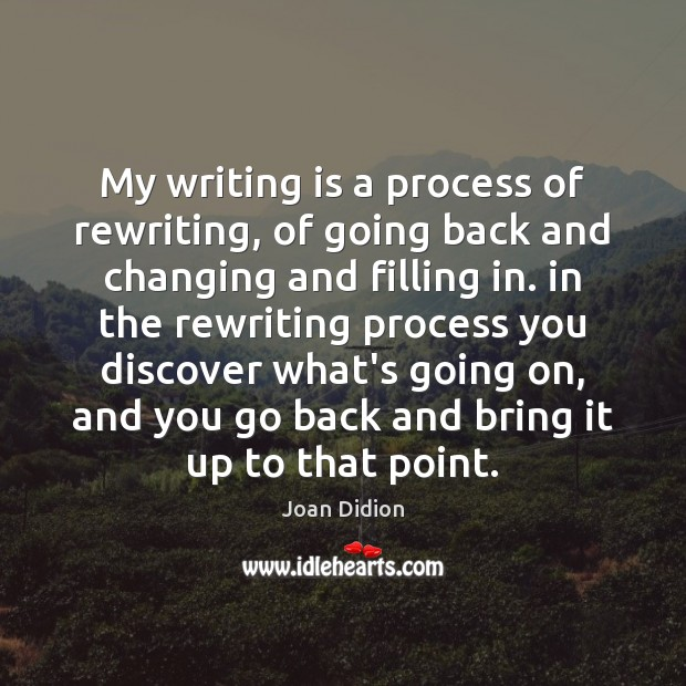 Image, My writing is a process of rewriting, of going back and changing