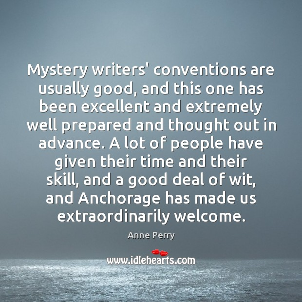 Image, Mystery writers' conventions are usually good, and this one has been excellent