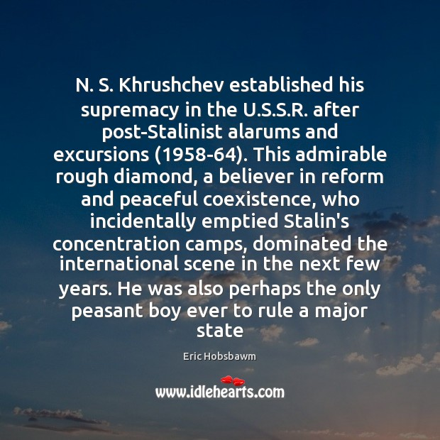 N. S. Khrushchev established his supremacy in the U.S.S.R. Coexistence Quotes Image