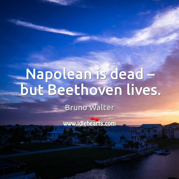 Image, Napolean is dead – but beethoven lives.