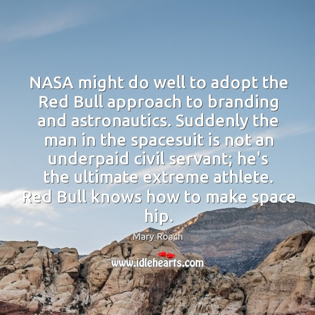 Image, NASA might do well to adopt the Red Bull approach to branding