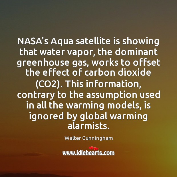 Image, NASA's Aqua satellite is showing that water vapor, the dominant greenhouse gas,