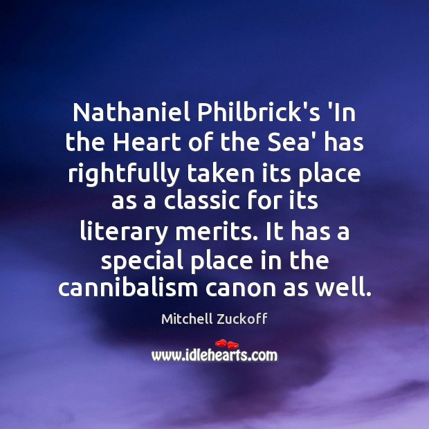Nathaniel Philbrick's 'In the Heart of the Sea' has rightfully taken its Image