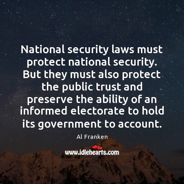 National security laws must protect national security. But they must also protect Image