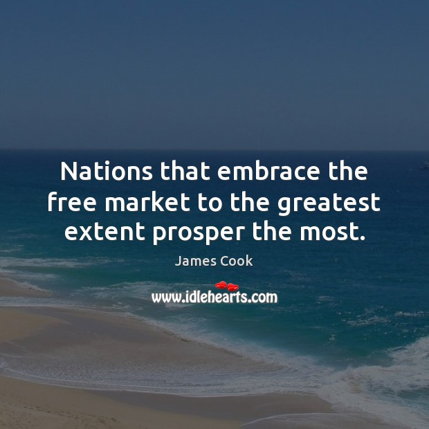 Nations that embrace the free market to the greatest extent prosper the most. Image