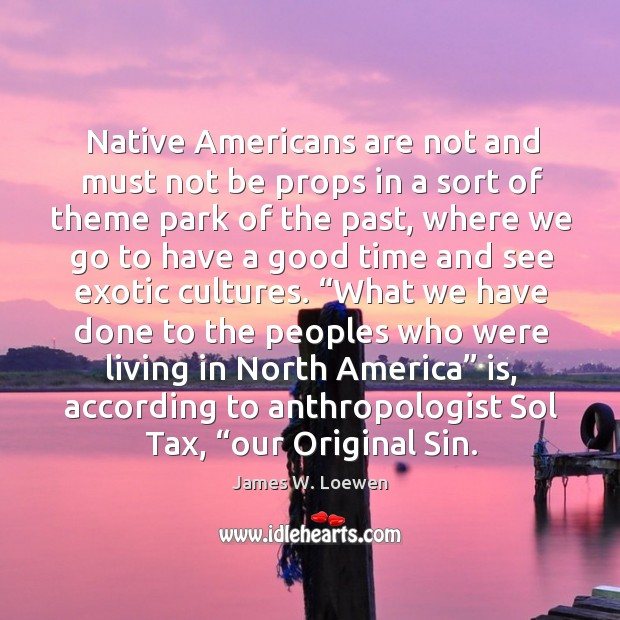 Native Americans are not and must not be props in a sort Image