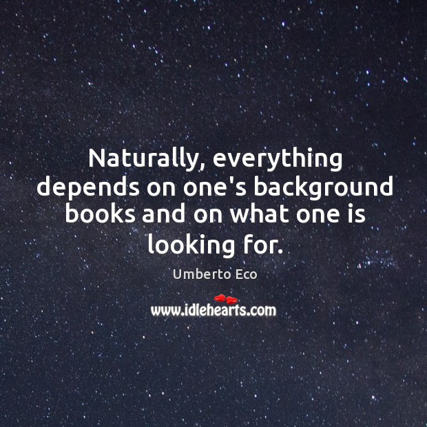 Naturally, everything depends on one's background books and on what one is looking for. Image