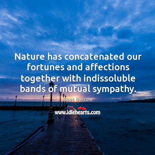 Nature has concatenated our fortunes and affections together with indissoluble bands of Image