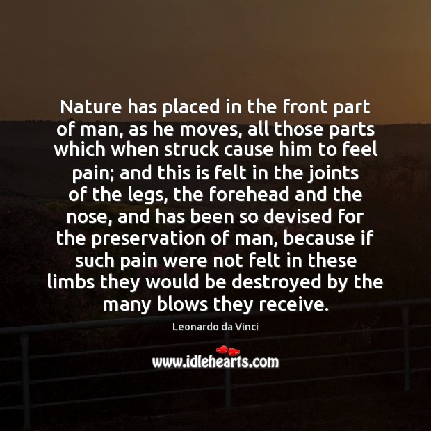 Nature has placed in the front part of man, as he moves, Image