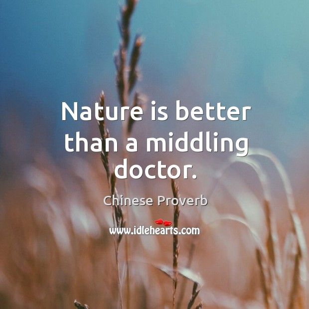 Image, Nature is better than a middling doctor.