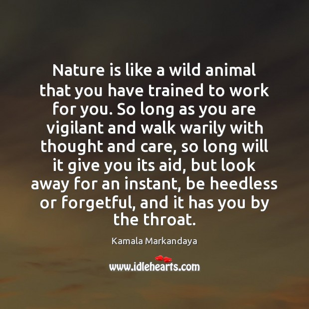 Nature is like a wild animal that you have trained to work Image