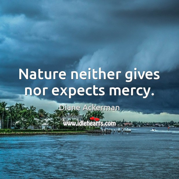Nature neither gives nor expects mercy. Image