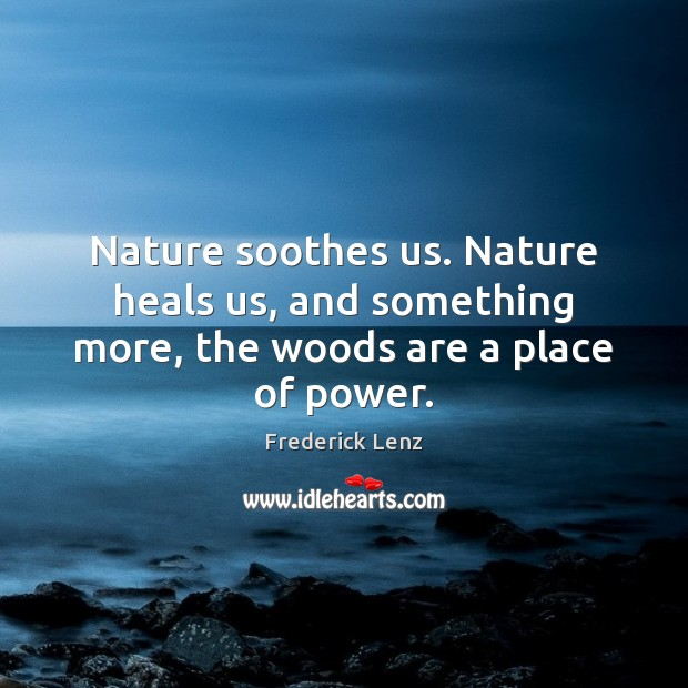 Nature soothes us. Nature heals us, and something more, the woods are a place of power. Image