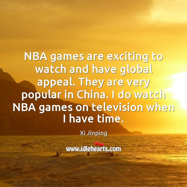 Image, NBA games are exciting to watch and have global appeal. They are