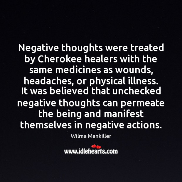 Image, Negative thoughts were treated by Cherokee healers with the same medicines as