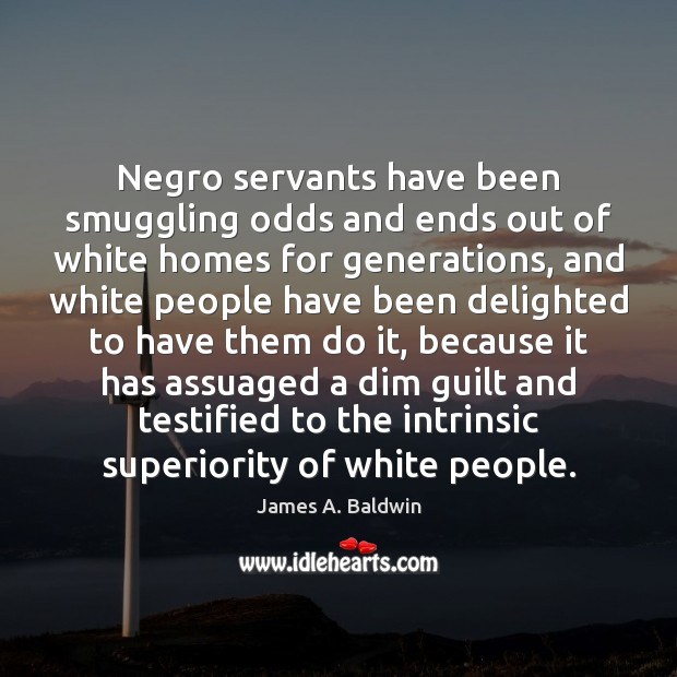 Negro servants have been smuggling odds and ends out of white homes Image