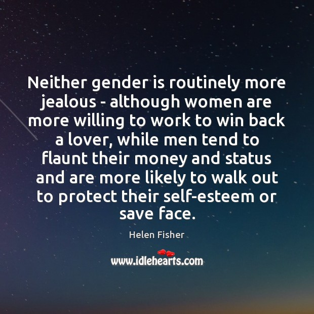 Image, Neither gender is routinely more jealous – although women are more willing
