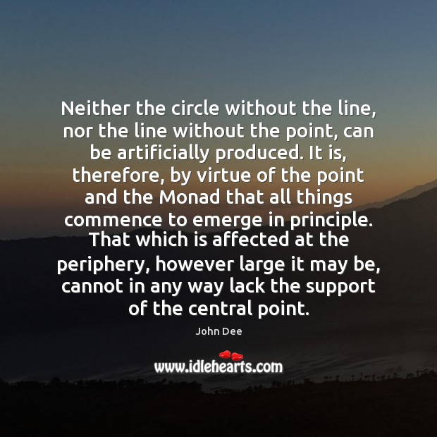 Image, Neither the circle without the line, nor the line without the point,