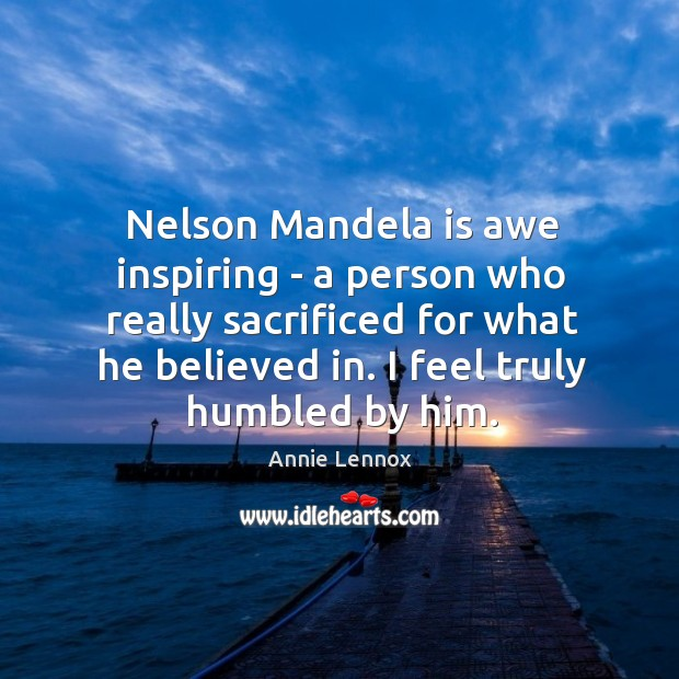 Nelson Mandela is awe inspiring – a person who really sacrificed for Image