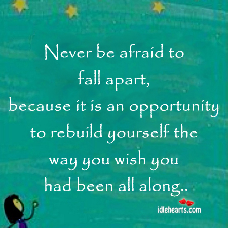 Never be afraid to fall Afraid Quotes Image