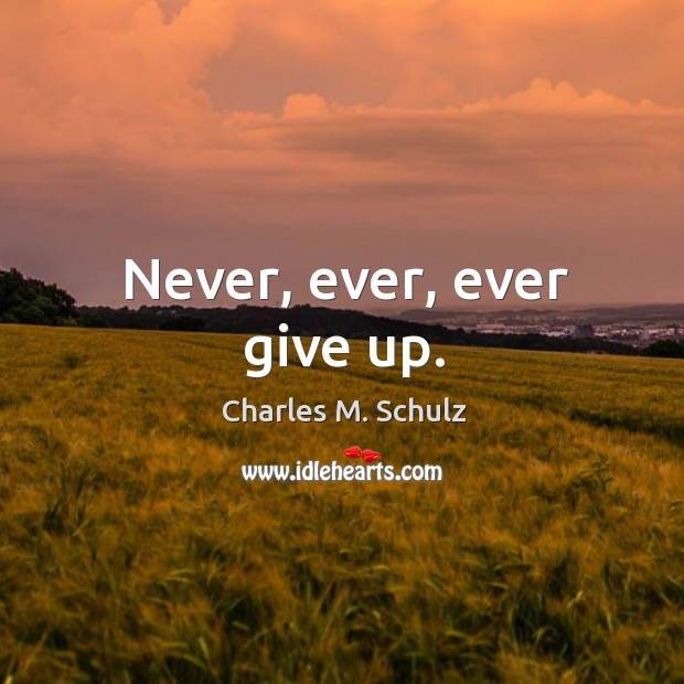 Image, Never, ever, ever give up.